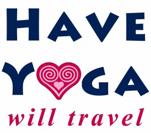 Have Yoga, Will Travel logo