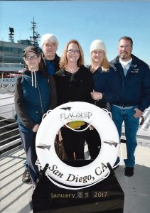 San Diego Harbor Cruise. From left to right: Me, Tom, Teri, Renee, Tony.